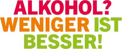 Logo: ALKOHOL? WENIGER IST BESSER